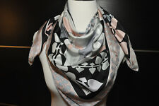 "NEW $375 EMILIO PUCCI 100% Silk Abstract Print Scarf 34"" (90x90cm)"