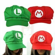 UK Luigi Caps Adult Teenagers Hat Costume & Super Mario Bros Mario Fancy  Dress