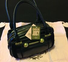 NWT Juicy Couture Royal Crown Black Hand Strap Bag Purse Immaculate