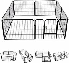 Dog Cage Pet Play Center Puppy Metal Play Space Play Pen Rabbit Cage Fence Pens