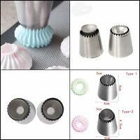 2Pcs Ring Cookies Mold Piping Russian Nozzles Icing Cake Decorating Pastry Tip