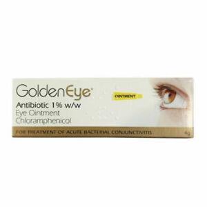 Golden Eye Antibiotic Chloramphenicol 1% Conjunctivitis Eye Oint- 4g CheapMulti