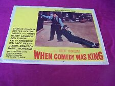 CHAPLIN-KEATON-ARBUCKLE-BEERY-SWANSON WHEN COMEDY WAS KING- Movie LOBBY CARD #8