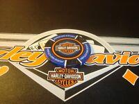 Harley Davidson Motor Cycles $500 Poker Chip Golf Ball Marker Card Guard Blu/Blk