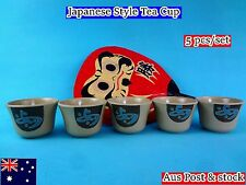 "New Melamine Gold Mini Tea Cup Set 8"" 7.6 x 5.5cm - 5 cups/set (B146) New"