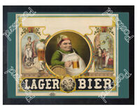 Historic Lager Bier poster, 1879 Advertising Postcard