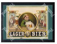 Historic Lager Bier poster, 1879 Advertising Postcard