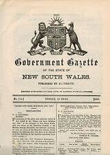 NSW...Government Gazette...No.174...July 1919...Water Act 1912, Coxswain...