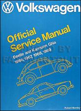 1966 1967 1968 1969 VW Karmann Ghia manual taller Volkswagen Reparación servicio