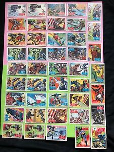 VTG 1966 Topps Batman Trading Cards Black and Red bat series - LOT OF 43