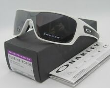 """OAKLEY polished white """"PRIZM"""" black POLARIZED TURBINE ROTOR sunglasses! NEW!"""