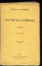 REMY DE GOURMONT, UNE NUIT AU LUXEMBOURG (1906)
