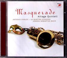 ALLIAGE QUINTETT Masquerade VIVALDI Four Seasons Jahreszeiten BACH Saxophone CD