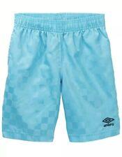 Vintage 90s New Umbro Mens Spell Out Checkered Nylon Soccer Shorts Blue