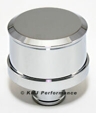 Smooth Top Chrome Aluminum Push In Valve Cover Breather - Washable Filter