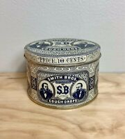 Smith Brothers Cough Drops Tin, Vintage, Antique, Collectible, Patina