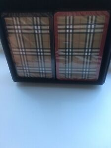Genuine & RARE!! Sealed Burberry Playing Cards Double Deck 👌Designer