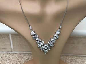 Beautiful Jon Richard Silver Plated Cubic Zirconia Necklace BN Tagged