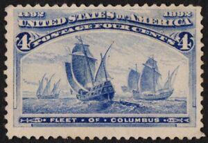US Sc# 233 *UNUSED NG LH* { -VF- 4c FLEET OF COLUMBUS } COLUMBIAN OF 1893 SERIES