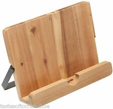 Kitchen Craft Natural Elements Solid Acacia Wood Ipad & Cook Recipe Book Stand
