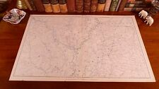 Large Original Antique Civil War Map ARKANSAS Little Rock MISSISSIPPI Oxford