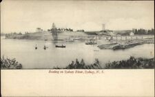 Sydney Nova Scotia NS Boating on Sydney River c1910 Postcard