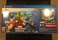 PS4 DISNEY INFINITY 2.0 MARVEL SUPER HEROES COLLECTOR'S EDITION w GIANT BASE NIB