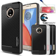 For Motorola Moto E4/E4 Plus Hybrid Shockproof Case Cover+Glass Screen Protector