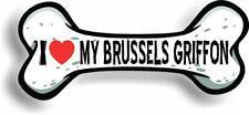 "I Love My Brussels Griffon Car Magnet Bumper Sticker 3""x7"""