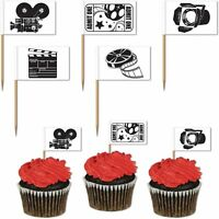 PACK 50 HOLLYWOOD MOVIE SET PICKS FOOD CUPCAKE PARTY TABLE DECORATION NIGHT