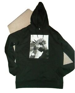 """Mister Tee Men's Black Hoodie SIZE LARGE,   """"TUPAC"""" VERY GOOD CONDITION"""