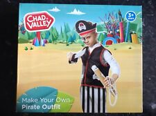 New Chad Valley Pirate Outfit To Decorate With Stickers Dress Up Role Play 3+