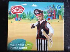 NUOVO Chad Valley Vestito Da Pirata Per Decorare con Adesivi DRESS UP Gioco di Ruolo 3+