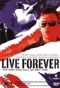 LIVE FOREVER: THE RISE AND FALL OF BRIT POP (2003) DVD ALL REGIONS - OASIS, BLUR