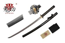 "41"" Damascus Blade Sword Katana w/ Black Scabbard and Black Wrapped Handle NIB"