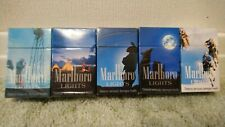 More details for vintage marlboro lights empty cigarette packets country collection full set of 5
