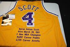 Los Angeles Lakers Byron Scott  4 Assinado Custom STAT Jersey inscrito  Autenticador de esportes profissionais DNA! 62b635ccabcf4
