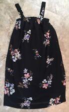 Liz Lange Target Womens Maternity Sun Dress Straps Black Floral XS