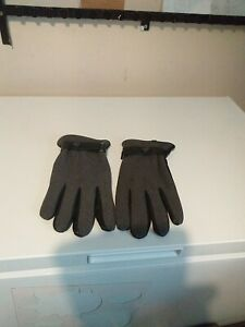 Mens gloves fabric and leather