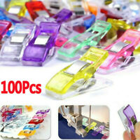 Pack of 100 Fixed Wonder Clips For Fabric Craft Quilting Knitting Sewing Crochet