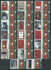 Gran Bretaña 2009 Post cajas Conjunto de 20 U. diferentes etiquetas adjunta ficticias Menta
