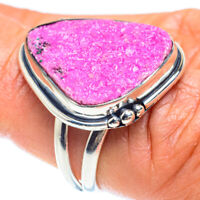 Cobalto Calcite Druzy 925 Sterling Silver Ring Size 7 Ana Co Jewelry R58950F