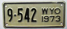 Wyoming 1973 BIG HORN COUNTY MOTORCYCLE License Plate SUPERB QUALITY # 9-542