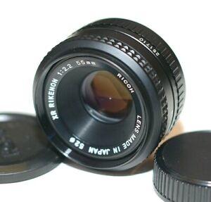 Ricoh Rikenon XR 55mm f/2.2 Manual Focus Lens - Pentax K Mount Tested & Clean