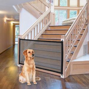 Dog Gate Ingenious Mesh Fence For Indoor/Outdoor Safe Pet gate Safety Enclosure