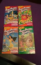 Disney Sing Along Songs 4 VHS  Very Merry Christmas, Jungle Book, Lion King