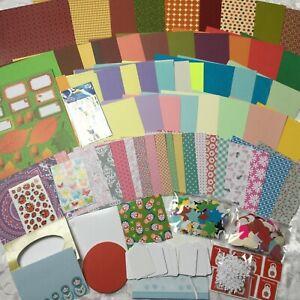 Bastelpaket Scrapbooking paket Papier Karten Stickers Geschenkanhänger Basteln
