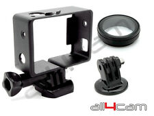 Standard Frame Mount UV Lens and Tripod Mount Set fits GoPro HERO3 HERO4