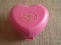 Vintage Polly Pocket Bluebird 1991 Bathtime Fun Ring Case Compact ONLY