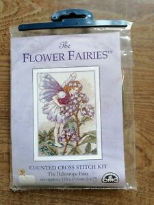 Cross Stitch Kit, The Heliotrope Fairy From The Flower Fairies